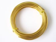 5M Gold Aluminium craft wire 2mm